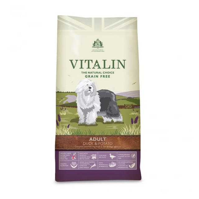 Vitalin Natural Adult  Duck & Potato 2kg