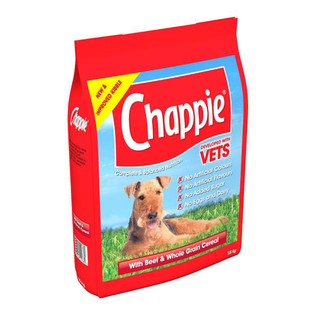 Chappie Complete Beef & Wholegrain Cereal 15kg