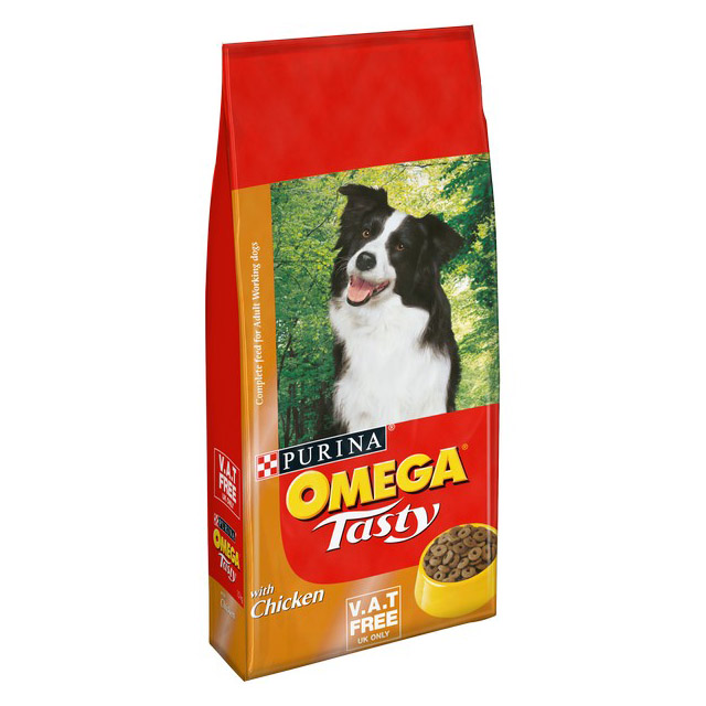 Omega Tasty Dog -Chicken and Rice Vat Free 15kg