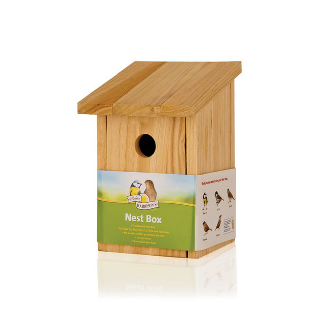 Harrisons Wooden Nest Box Standard Front Opening 32mm Hole
