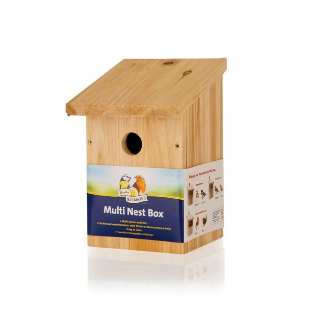 Harrisons Wooden Nest Box Multi 25mm and 32mm Hole