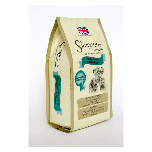Simpsons Complete Adult Sensitive Lamb & Potato 12kg