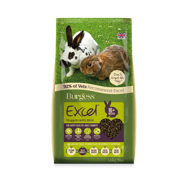 Burgess Excel Adult Rabbit Nuggets with Mint 10kg