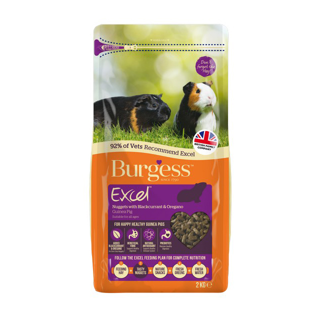 Burgess Excel Adult Guinea Pig Nugget Blackcurrant & Oregano 2kg