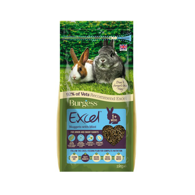 Burgess Excel Junior Dwarf Rabbit Nuggets with Mint