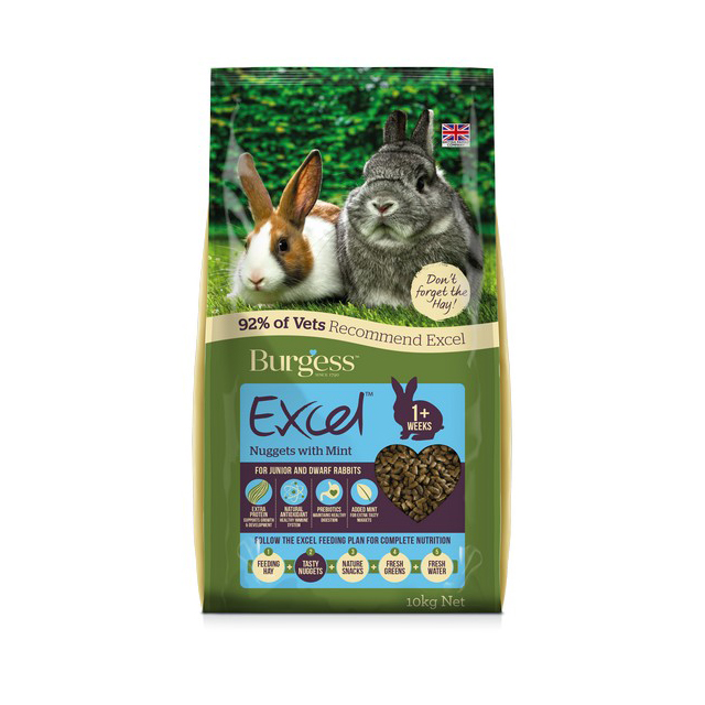 Burgess Excel Junior Dwarf Rabbit Nuggets with Mint 10kg