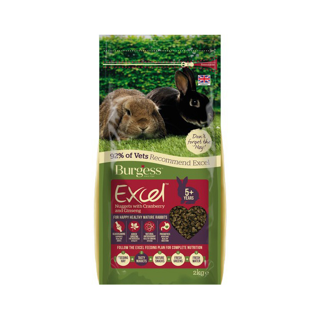 Burgess Excel Mature Rabbit Nuggets Cranberry Ginseng 2kg