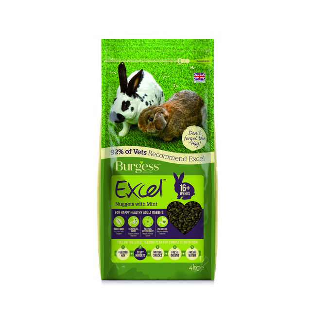 Burgess Excel Adult Rabbit Nuggets with Mint 4kg
