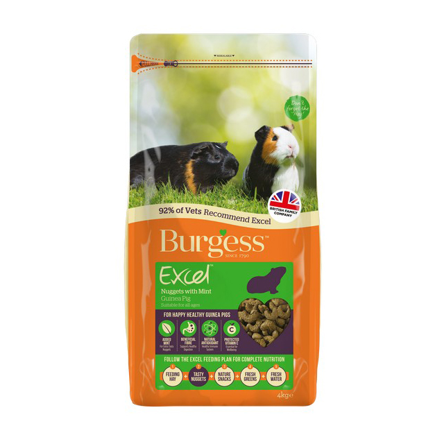 Burgess Excel Adult Guinea Pig Nuggets with Mint 4kg