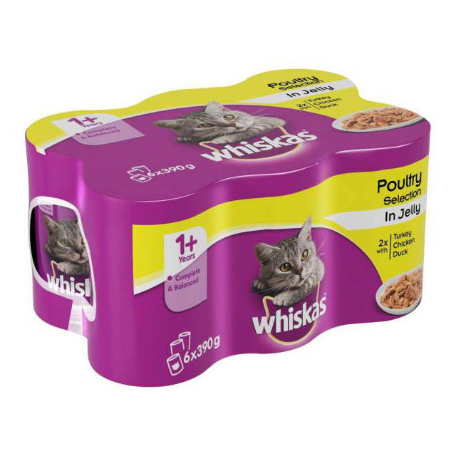 Whiskas Can Cij Poultry Selection 4x6Pk 390g