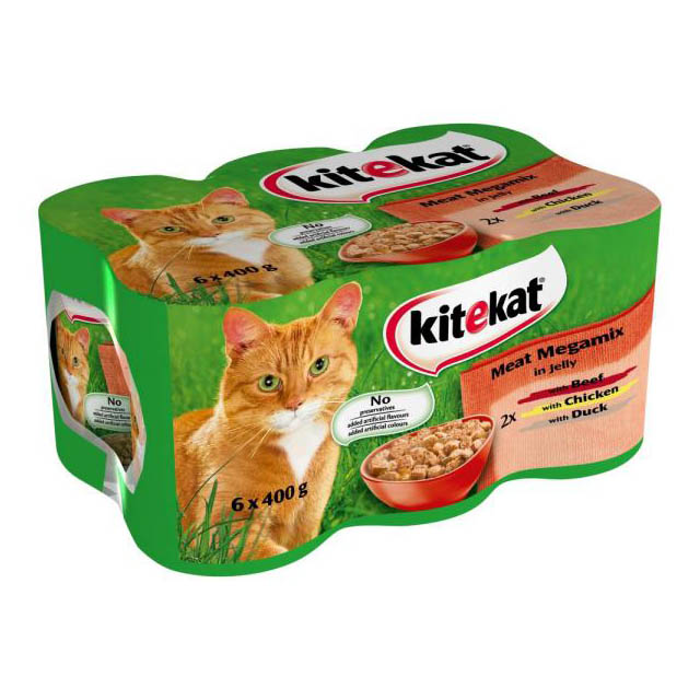 Kitekat Can Mixed 6 Pk Cij 4x6Pk 400g