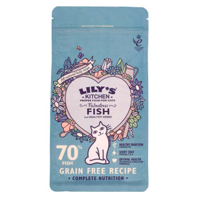 Lilys Kitchen Fabulous Fish Dry Food for Cats 200g