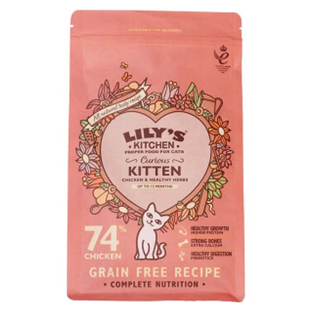 Lilys Kitchen Curious Kitten Dry Food for Cats 800g