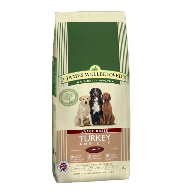 Wellbeloved Adult Large Breed Turkey and Rice 15kg