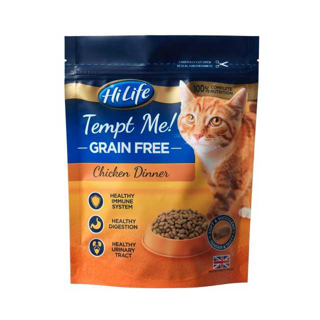 HiLife Tempt Me Grain Free Chicken Dinner 800g [DCse 4]
