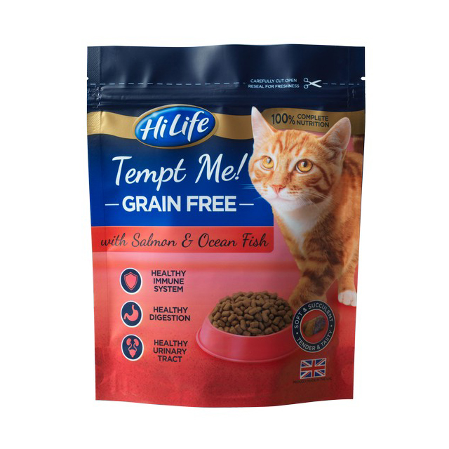 HiLife Tempt Me Grain Free with Salmon & Ocean Fish 800g [DCse 4]