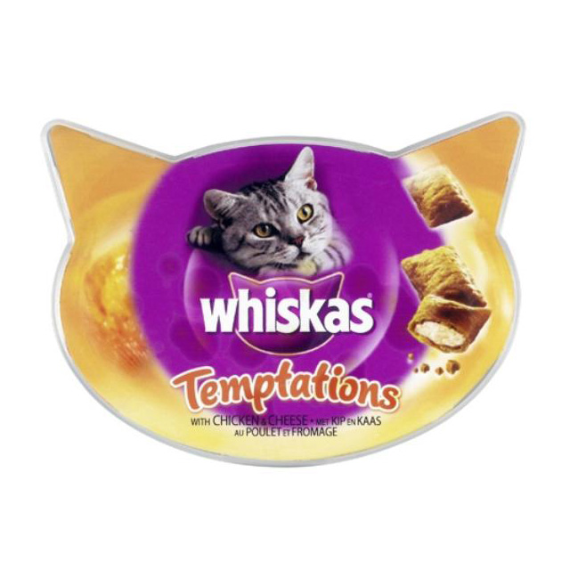 Whiskas Chicken and Cheese Temptations 60g [DCse 8]