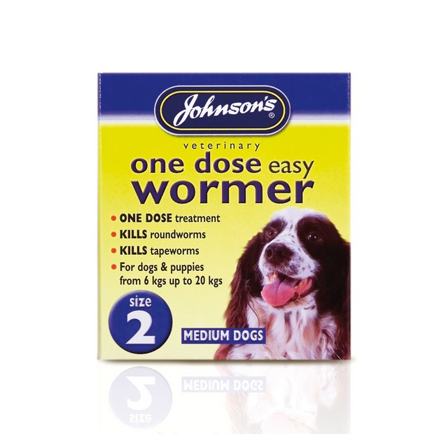 JVP One Dose Wormer for Medium Size Dog Size 2
