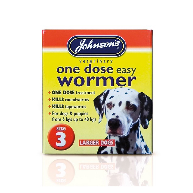 JVP One Dose Wormer for Large Dog Size 3