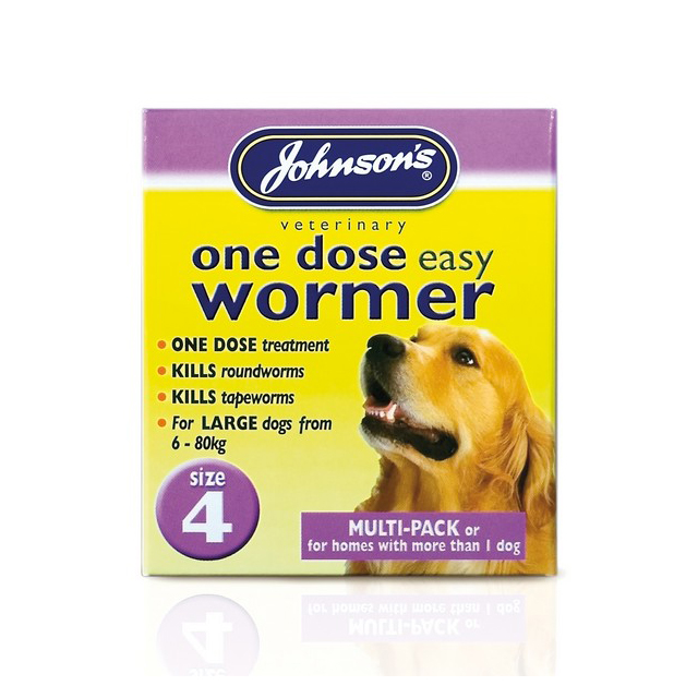 JVP One Dose Wormer for Larger Dog Size 4