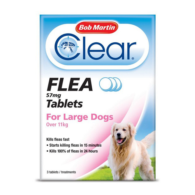 BM Clear Flea Tablets for Large Dogs over 11kg (3Tabs)