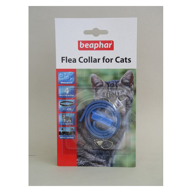 Beaphar Plastic Cat Flea Collar Mixed 35cm