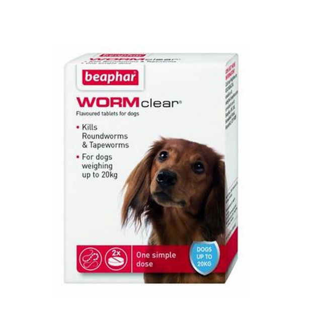 Beaphar WORMclear Dog for Dogs up to 20kg (2Tabs)