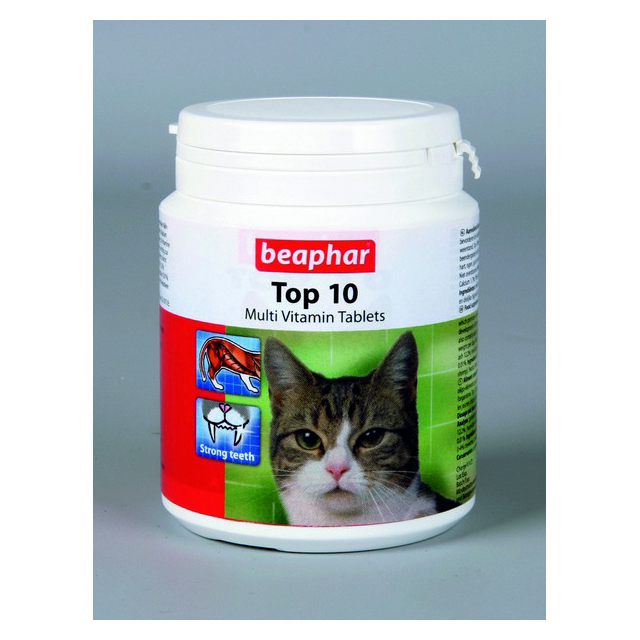 Beaphar Top 10 Vitamin Tablets For Cats (180Tabs)