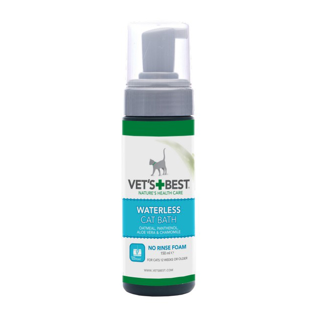 Vets Best Waterless Cat Bath Pump 150ml