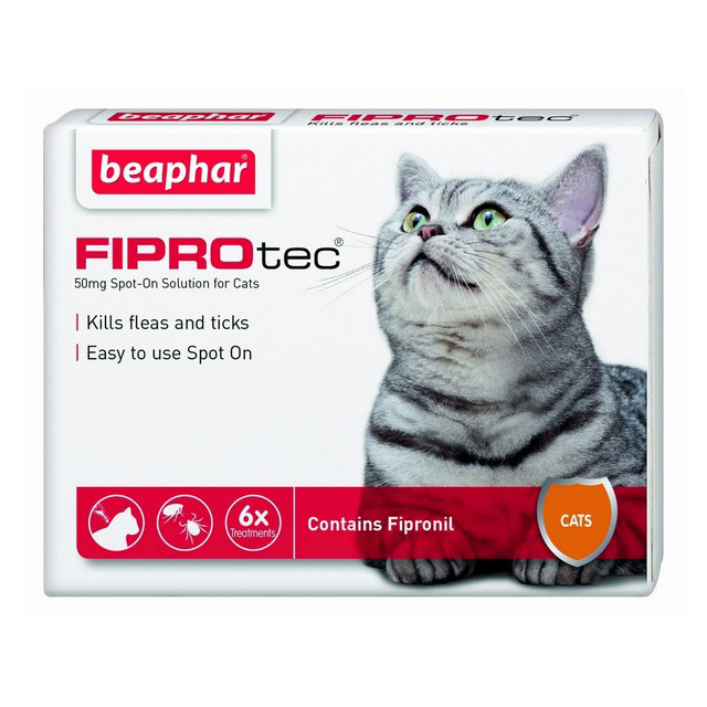 Beaphar Fiprotec Spot On Cat 50mg (6 Treatments)