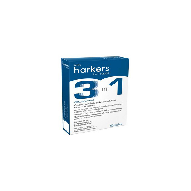 Harkers 3 In 1 Tablets 50 Tabs