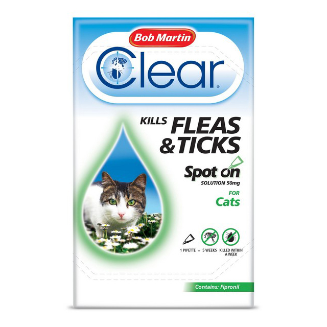 BM Clear Flea Clear Spot On for Cats (1 Pipette)