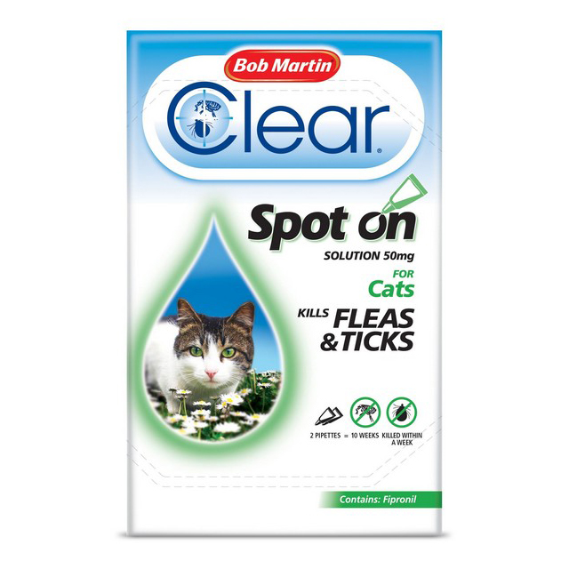 BM Clear Flea Clear Spot On for Cats (2 Pipettes)