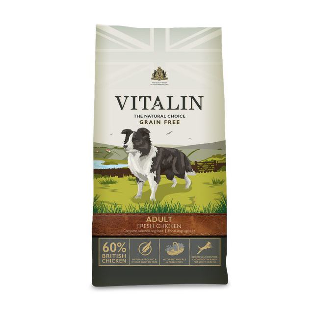 Vitalin Natural Grain Free Fresh Chicken 12kg