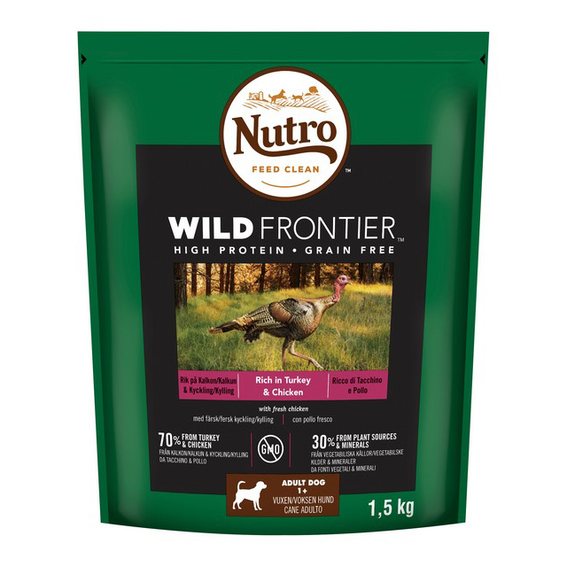 NUTRO Dog Dry Wild Frontier Adult Med Turkey & Chicken 1.5kg