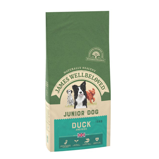 Wellbeloved Duck & Rice Junior 15kg