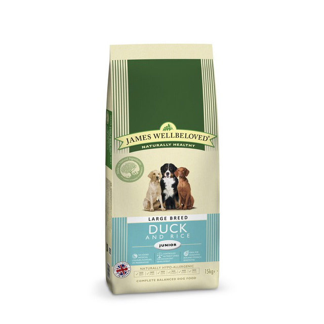 Wellbeloved Duck & Rice Junior Large Breed 15kg