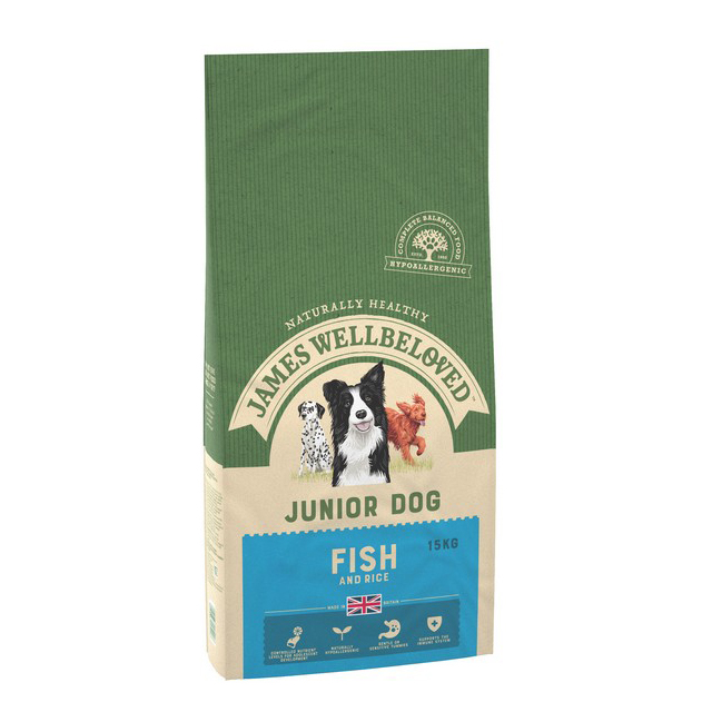 Wellbeloved Fish & Rice Junior 15kg