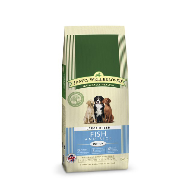 Wellbeloved Fish & Rice Junior Large Breed 15kg