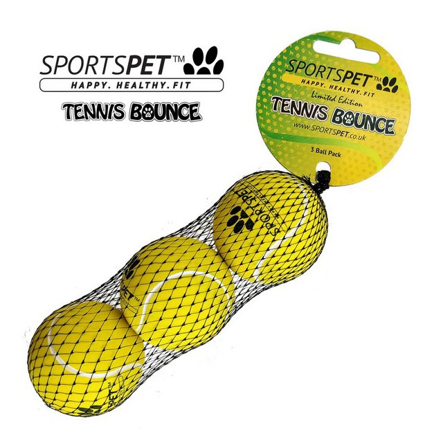 Sportspet No Felt Tennis Bounce 3 pack