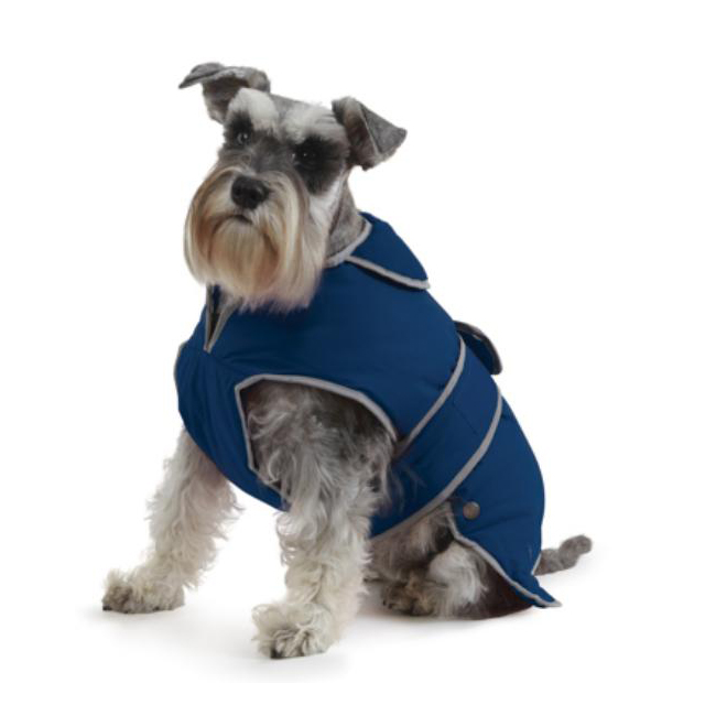 Ancol Stormguard Dog Coat Chest Protector Navy Small