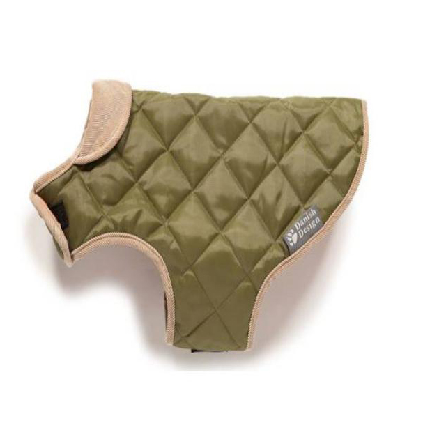 D/Design Quilted Dog Coat Forest Green 35cm
