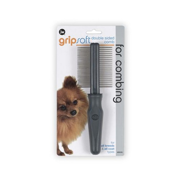 JW Gripsoft Grooming Double Sided Comb