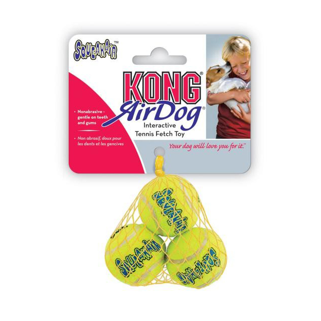 KONG Air Squeaker Tennis Ball (3Pk)  XSmall