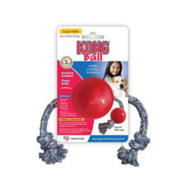 KONG Rubber Ball On Rope Small