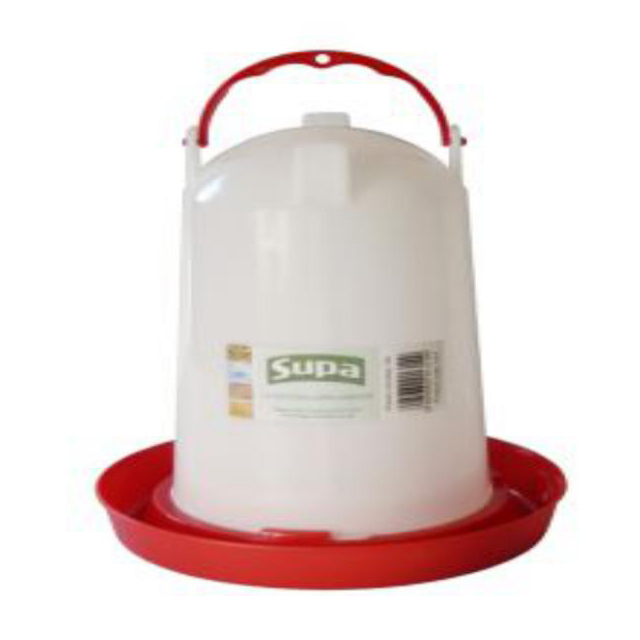 Supa Red and White Plastic Poultry Drinker 3L