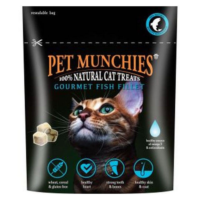 Pet Munchies Cat Treats Gourmet Fish Fillet 10g [DCse 8]