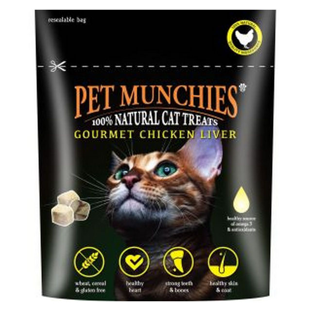 Pet Munchies Cat Treats Gourmet Chicken Liver 10g [DCse 8]