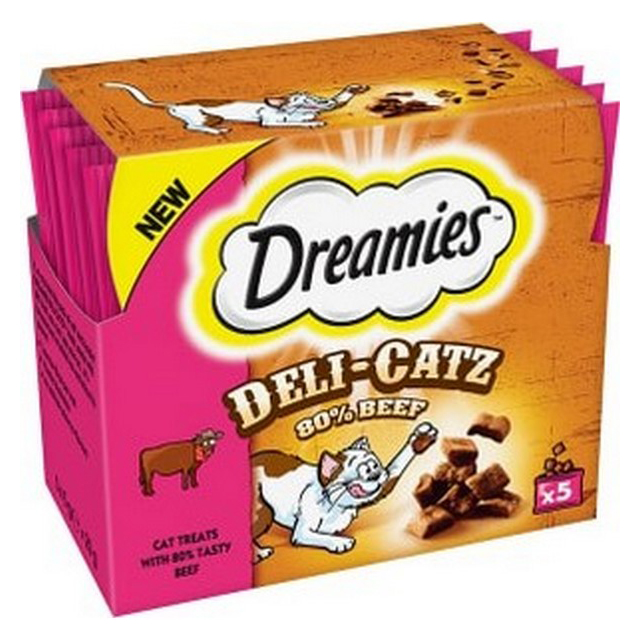 Dreamies Deli Catz Cat Treat Beef