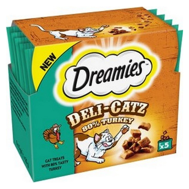 Dreamies Deli Catz Cat Treat Turkey